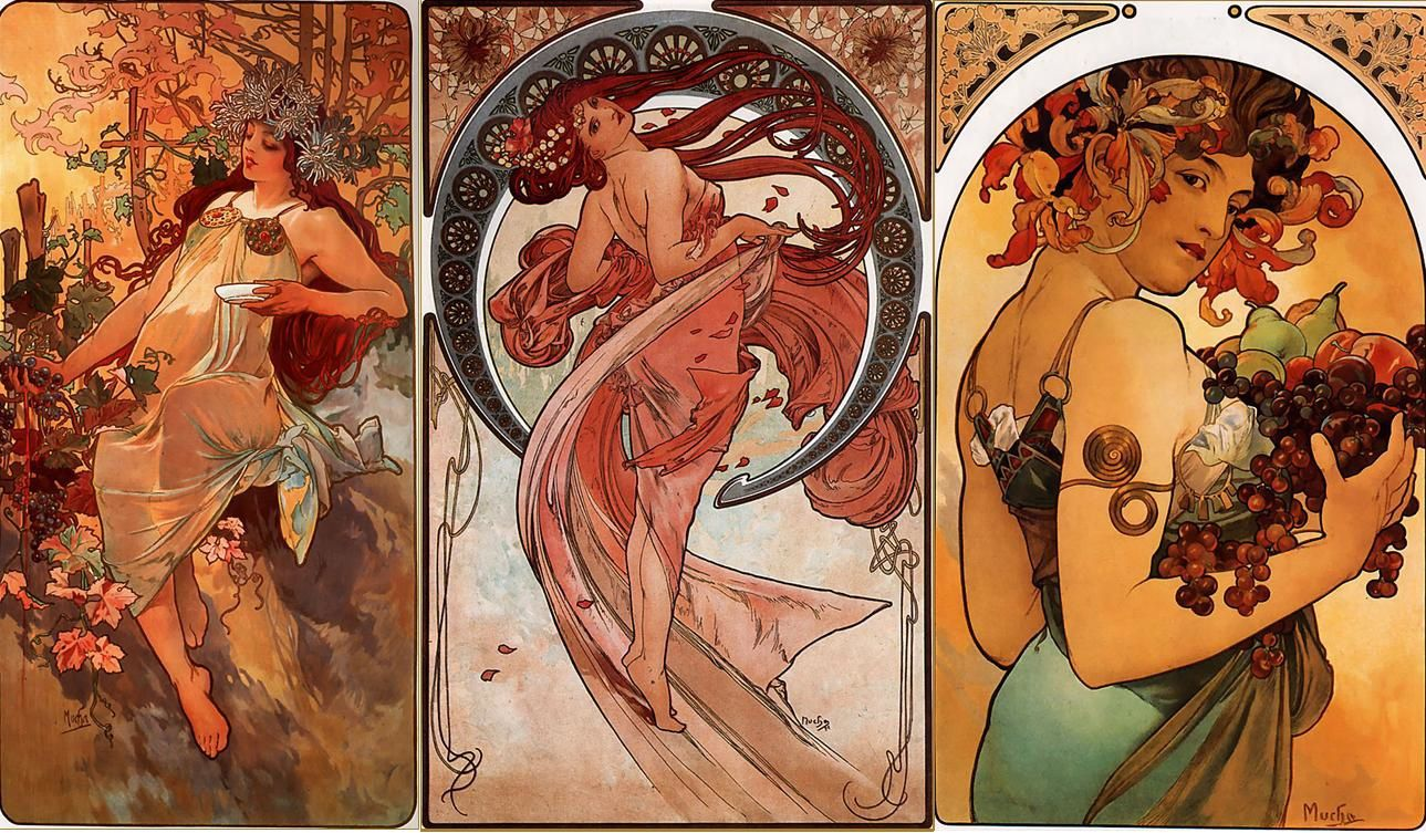 influences , hommages et coincidences - Page 27 Alfons-Maria--Alphonse--Mucha-choix-d-oeuvres